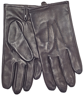 John Lewis Silk Lined Aniline Leather Gloves, Black