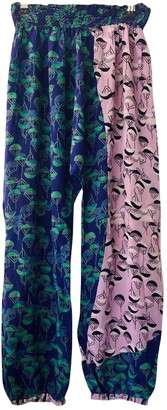 Non Signé / Unsigned Non Signe / Unsigned Hippie Chic Multicolour Silk Trousers