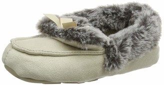 totes Ladies Suedette Fur Mocc Slippers Women's High-Top Hi-Top Slippers