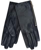 J by Jasper Conran Navy Leather Side Zip Gloves