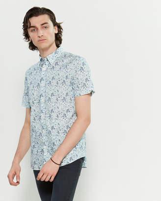 Ben Sherman Grey Floral Print Shirt