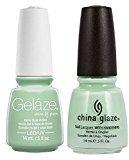 China Glaze Gelaze Tips and Toes Nail Polish, Re-Fresh Mint, 2 Count