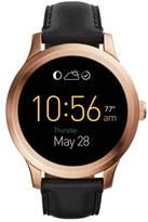 Fossil 'Fossil Q - Founder' Round Leather Strap Smart Watch, 47Mm