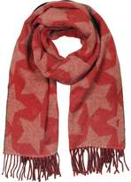 MAISON KITSUNÉ Stars Double Sided Wool Blend Scarf