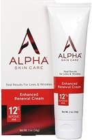 Alpha Skin Care - Enhanced Renewal Cream, 12% Glycolic AHA, Real Results for Lines and Wrinkles  Fragrance-Free and Paraben-Free  2-Ounce