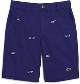 Vineyard Vines Boys' Flag Whale Embroidered Shorts - Big Kid