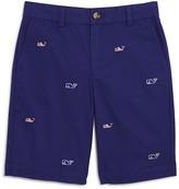 Vineyard Vines Boys' Flag Whale Embroidered Shorts - Little Kid