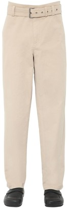 J.W.Anderson Belted Cotton Canvas Chino Pants