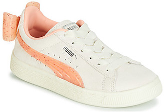 Puma PS SUEDE BOW JELLY AC.WHIS girls's Shoes (Trainers) in Beige