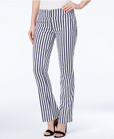 XOXO Juniors' Natalie Striped Waist-Tab Flared Pants