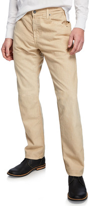 AG Adriano Goldschmied Men's Graduate Straight-Leg Linen Pants