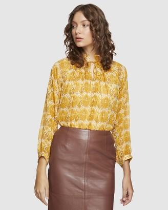 Oxford Sandy Retro Print Tunic Top
