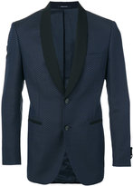 Tonello contrasting lapel blazer - men - Cotton/Cupro/Virgin Wool - 52