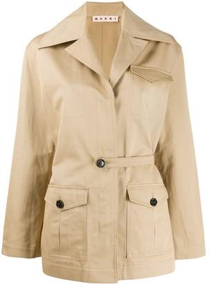 Marni oversized collar field jacket