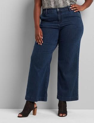 Lane Bryant Signature Fit High-Rise Trouser Jean - Dark Wash