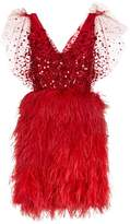 Jenny Packham Embellished Feather Dress