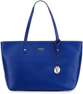 Furla Daisy Medium Leather Tote Bag, Blu Laguna
