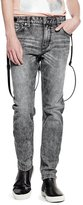 GUESS Men's Slim Tapered Suspender Jeans