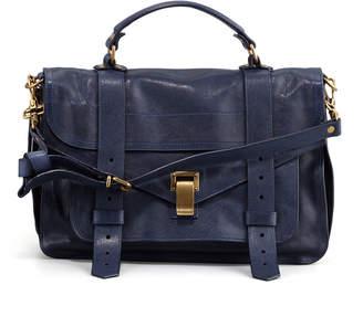 Proenza Schouler PS1 Medium Calfskin Satchel Bag, Midnight