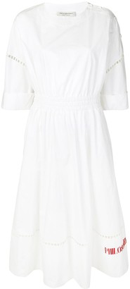 Philosophy di Lorenzo Serafini Poplin Logo Dress