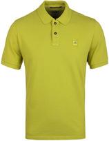 Cp Company Pistachio Pique Short Sleeve Polo Shirt