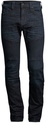 True Religion Rocco Mid-Rise Moto Skinny Jeans