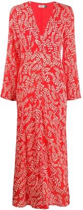 Rixo Sonja Tree Roots-print dress