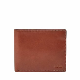 Fossil Men's Elgin Leather Large Coin Pocket Bifold Wallet