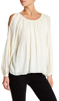 Ark & Co Pleated Cold Shoulder Blouse