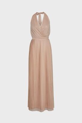 Coast Pleat Mesh Skirt Maxi Dress