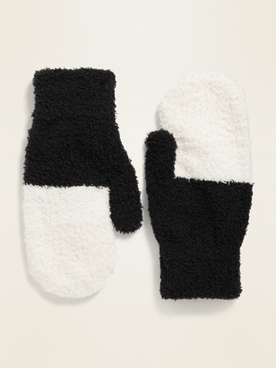 Old Navy Cozy Color-Blocked Mittens for Women