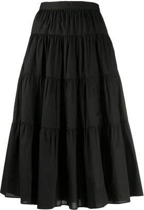 MICHAEL Michael Kors Cotton Poplin Tiered Skirt