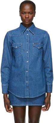 Calvin Klein Jeans Blue Denim Western Shirt