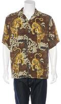 Gucci 2016 Tiger Print Bowling Shirt