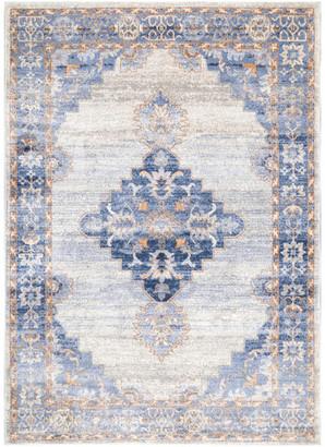 nuLoom Johnnie Vintage-Style Area Rug, Blue, 8'x10'