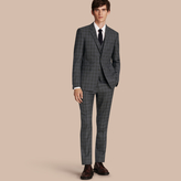 Burberry Slim Fit Wool Silk Linen Three-piece Part-canvas Suit