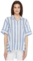 Vince Camuto Bold Stripe Oversized Button Down Shirt Women's Clothing