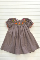 petit bebe Scarecrow Smocked Bishop Dress