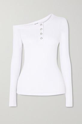 The Line By K Harley Off-the-shoulder Ribbed Jersey Top - White