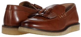 Walk London Del Fringe Tassel Loafer (Tan Leather) Men's Shoes