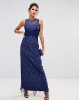 Little Mistress Lace Empire Maxi Dress