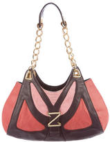 Zac Posen Leather Logo Shoulder Bag