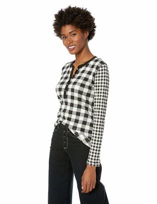Chaps Women's Fashion Crewneck Henley Long Sleeve Shirt