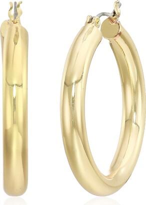 Anne Klein Women's Gold Small Clicktop Hoop Earrings
