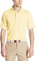 PGA TOUR Men's Short Sleeve Essential Solid Pocketed Polo