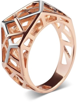 Bellus Domina Rose Gold Plated Crossover Ring