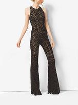 Michael Kors Floral Lace Flared Jumpsuit