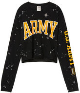 PINK Army Cropped Long Sleeve Campus Tee