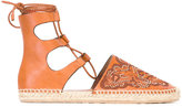 RED Valentino studded Hummingbird espadrilles - women - Calf Leather/Leather/rubber - 36