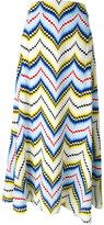 Kenzo chevron maxi skirt - women - Silk/Polyester - 34